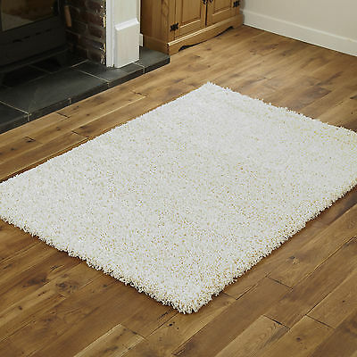 Modern Small Extra X Large Rug - Thick 5Cm Pile Cream Colour Shaggy Rugs 2