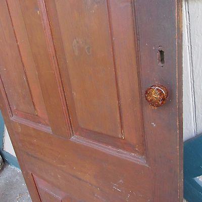 Antique Hand Made Wooden Cross & Book Door, Bennington Knob,Through Tenon,1840's 5