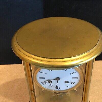 Superb french bevelled glass Japes Frees Victorian gilt framed clock 2