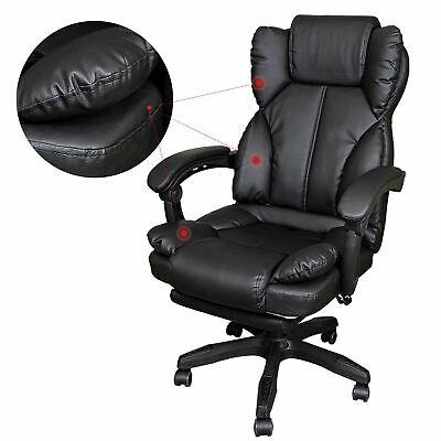 Schreibtischstuhl Bürostuhl Gamingstuhl Racing Chair Chefsessel mit Fußstütze 5