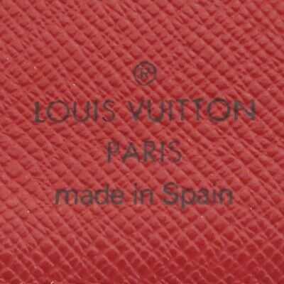 Auth LOUIS VUITTON Epi Agenda PM Day Planner Cover Red Leather R2005E #f41439 12