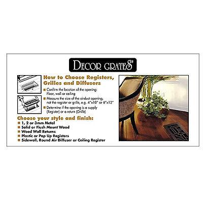 Floor Register Design Vent Cover Steel 2x12 3x10 6x10 6x12 6x14 4x10 4x12 4x14 5
