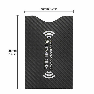 RFID Blocking Sleeve Credit Card Protector Anti Theft Safety Shield Case Cover 8