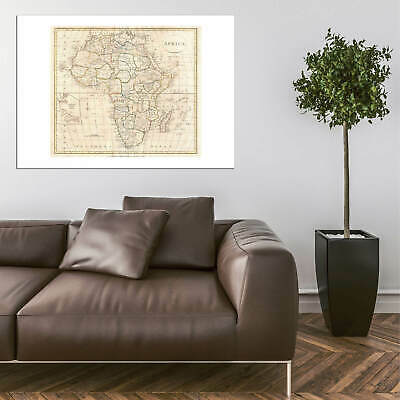 Africa Map Clement Cruttwell 1799 Wall Art Poster Print 7