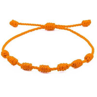 Pulsera roja de 7 nudos de la suerte para hombre o mujer de hilo bracelets 10