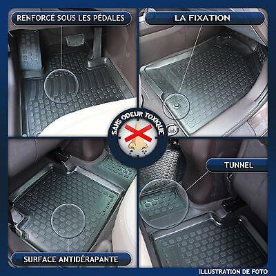 3D EXCLUSIVE TAPIS DE SOL EN CAOUTCHOUC pour VW TOURAN  2003 - 2015 4pcs 3