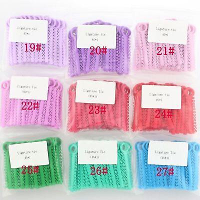 1 Pack 1040 Pcs Dental Orthodontic Elastic Braces Rubber Ligature Ties 37 Colors 4