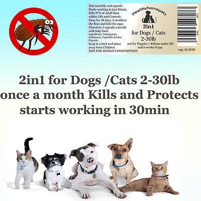 12 Fea Killer PLUS Flea Control for Dogs /Cats 2-30lb 165mg+15mg Quick results 5