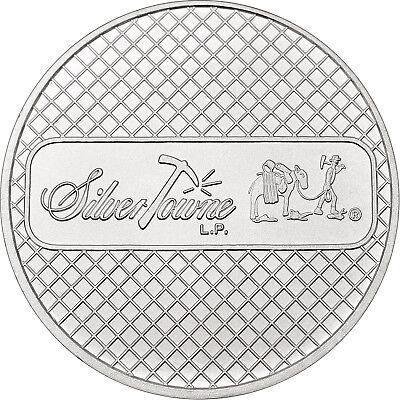 SilverTowne Prospector Waffleback Trademark Logo 1 oz .999 Silver Medallion 5 pc 3