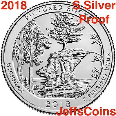 2018 S REVERSE Block Island National Seashore 90% Silver Proof Park Quarter ATB 6