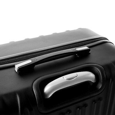 """4 Piece ABS Luggage Set Light Travel Case Hardshell Suitcase 16""""20""""24""""28"""" 11"""