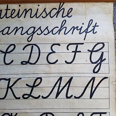 Schulwandkarte Friedrich Gutsch Lehrtafel Latein um 1850 Karlsruhe i.B