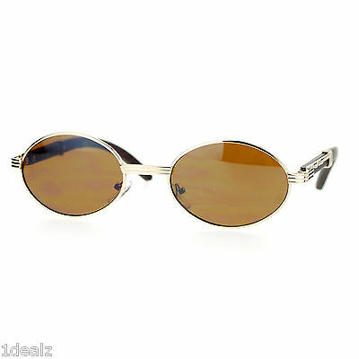 2bbd3b600fc3 ... New Oval Wood Buffs Unisex Sunglasses Oval UV400 Lenses and Gold frame  Baller 12