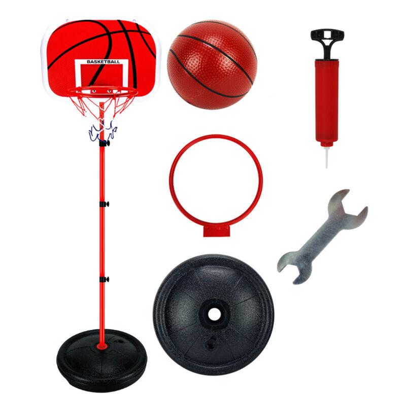 Adjustable 170cm Kids Basketball Back Board Stand & Hoop Set Children Gift UK 5