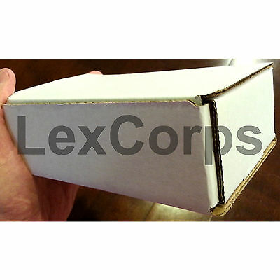 White Corrugated Mailers MANY SIZES 50 100 200 Shipping Packing Fold Box 10