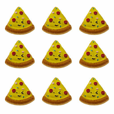 12/20pcs Pizza Slice Resin Flatback Cabochons DIY Accessories Craft Findings 5