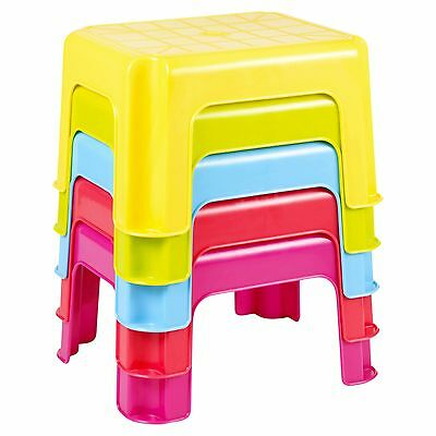 Magnificent Multi Purpose Sturdy Plastic Step Stool Stackable Kids Seat Ocoug Best Dining Table And Chair Ideas Images Ocougorg