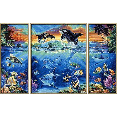 Triptychon Unterwasserwelt Am Korallenriff Malen Nach Zahlen Schipper Meereswelt
