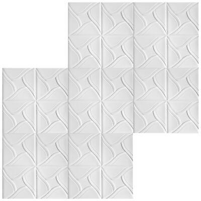 30 qm Deckenplatten Styroporplatten Stuck Decke Dekor Platten 50x50cm Nr.01