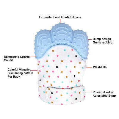 Silicone Baby Teether Teething Mitten Mitt Glove Safe BPA Free Chew Dummy Toy 6