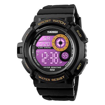 Men's Army SHOCK Sport Quartz Wrist Day Date Digital Watch Waterproof Military 6
