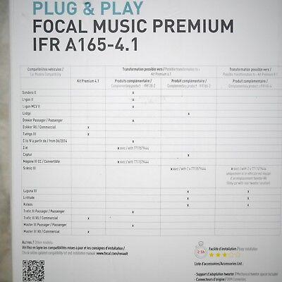 Kit haut parleur specifique Renault Focal music premium IFR A165-4.1 7711578133 2