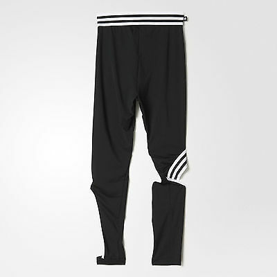 8ebbabcd0b ... Adidas Originals Rita Ora W Black Cut Leggings Size UK 14