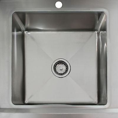 Science Lab Laboratory Sink Stainless Steel Single Bowl 1.0 Right Hand Drainer 7