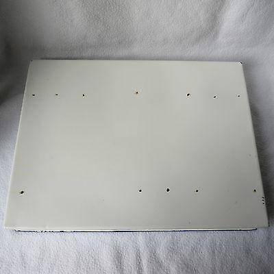 sehr große alte PRIMA Email Instrumentenschale Emaille mit Deckel 40x30cm