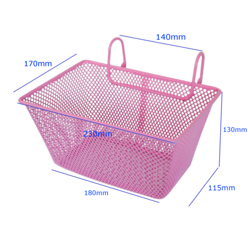 BK140P Oxford Junior Cycle Basket Pink