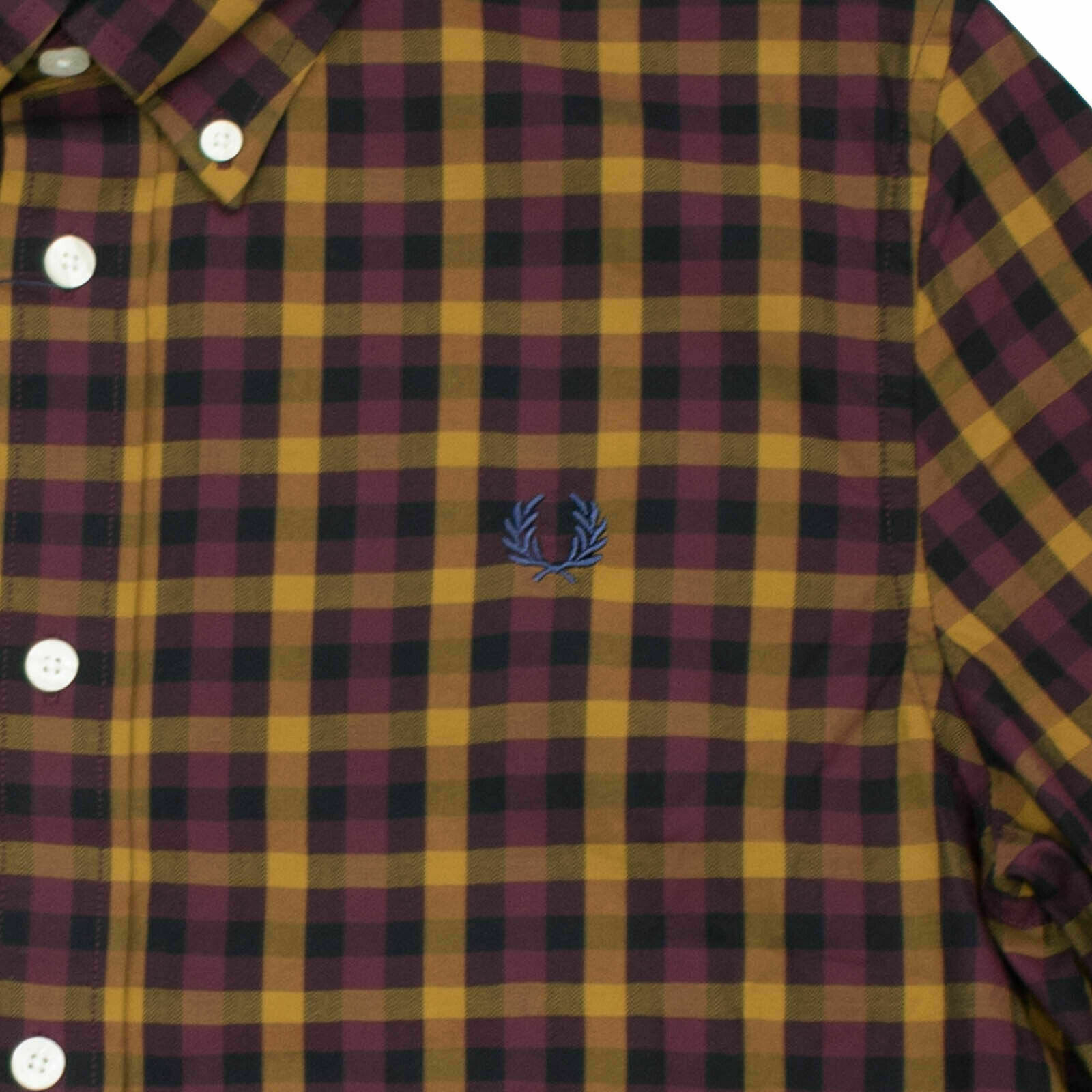 Hemd M8290 608 Burgundy #5773 Fred Perry Button Down Langarm