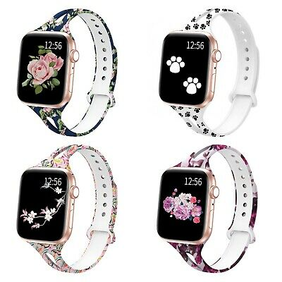 Soft Silicone Multicolor Band Compatible with Apple Watch Series 5, 4, 3, 2, 1 8