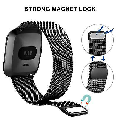 For Fitbit Versa Milanese Watch Band Strap Wrist Magnetic Stainless Steel Loop 11
