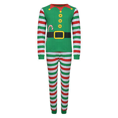 Christmas Pyjamas Family Xmas Elf Theme Ex Store Mum Dad Kids Pj Sets Night Wear 3