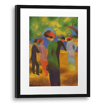 August Macke-Dame en Vert Veste Paillasson türmatte #107805 70x50cm