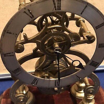 antique fusee skeleton clock 8