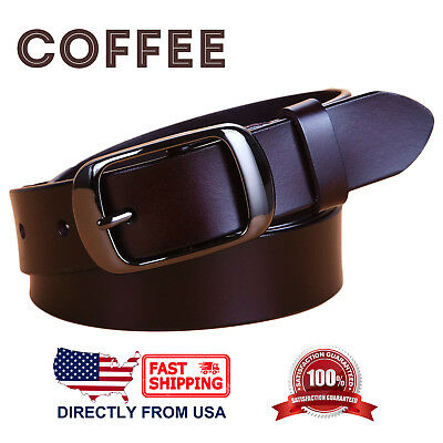 Women's Jean Belt, Classic Buckle Handcrafted Genuine Leather Belt 8