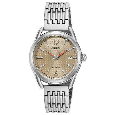Citizen Eco-Drive Women's FE6080-54X Brown Dial Silver Tone Bracelet 34mm Watch 2