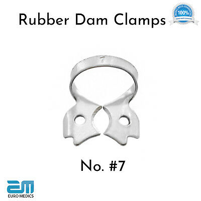 Set of 3 Dental Restorative Rubber Dam Clamps Endodontic Ivory Molars Placement 4