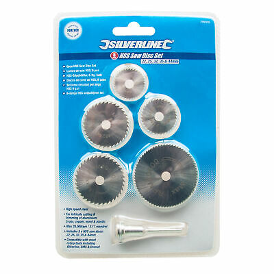 Silverline HSS Saw Disc Set For GMC/Dremel Rotary Tools Cuts Copper Wood Plastic 2
