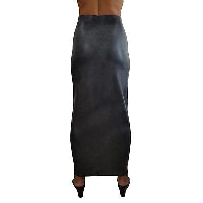 Langer Latex Humpelrock aus Rubber in schwarz, Einheitsgröße 6