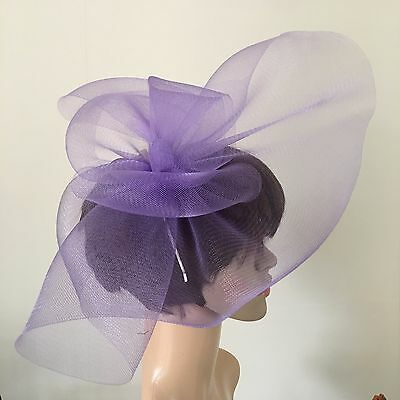 light pale purple lilac fascinator millinery burlesque wedding hat ascot bridal 3