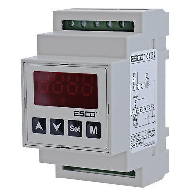 DIN Dual Temperature Controller two channel DOUBLE THERMOSTAT 2 SENSORS outputs 2