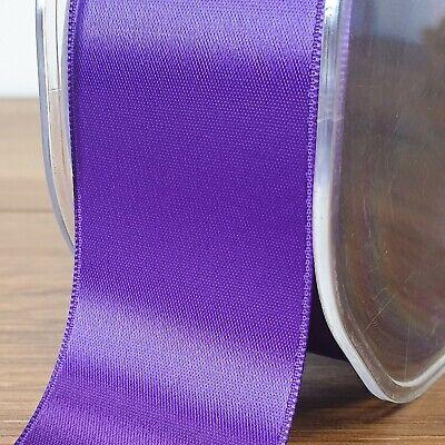 Beautiful Purple Double Sided Satin Ribbon 3mm-50mm Wide Solid Plain CUT PER 1M 2