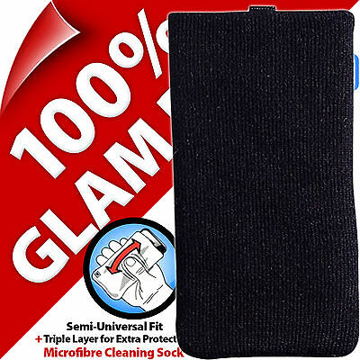 Glam Rox Triple Layer Microfibre Cleaning Mobile Phone MP3 Sock Case Pouch Cover 3