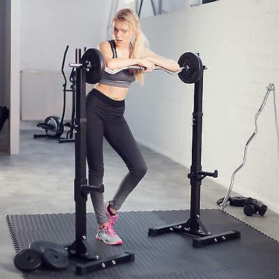 Support Repose Barre musculation pour haltères longs à disques. max env 100kg 2