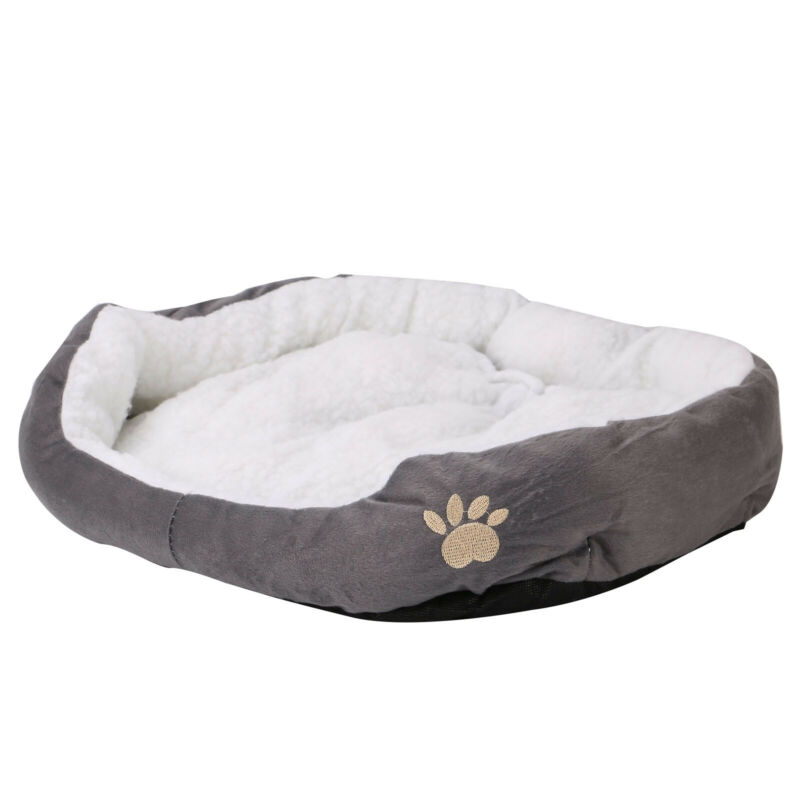 Deluxe Warm Soft Washable Dog Cat Pet Warm Basket Bed Cushion with Fleece Lining 9