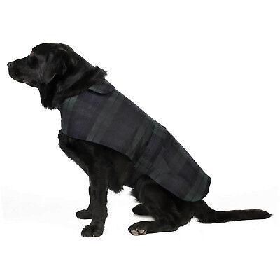 New Blackwatch Checkered British Wax Dog Coat Waterproof Waxed Cotton Raincoat 2