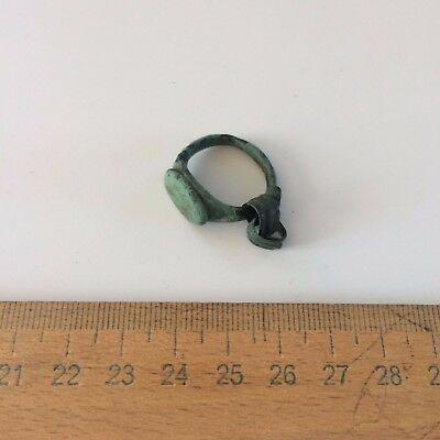 Great Ancient bronze ring Middle Ages original. 2