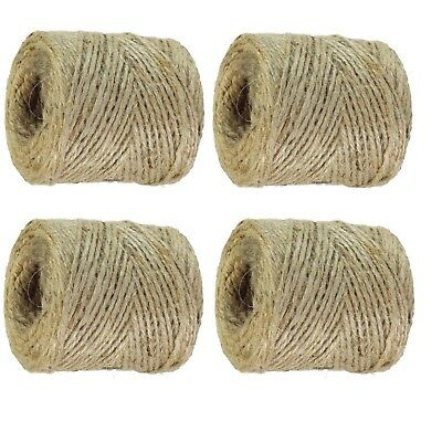 10m-1000M Metre Natural Brown Shabby Rustic Twine String Shank Craft Jute 3ply